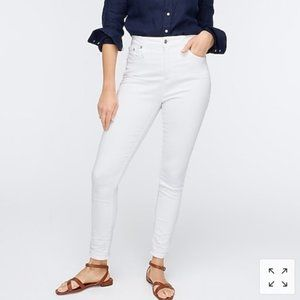 NWT J. Crew Curvy Toothpick Jeans in White